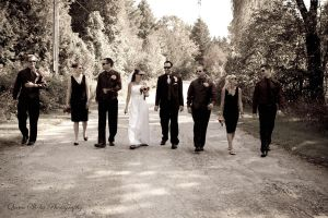 Bridal Party Walk by QueenSheba24