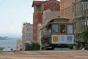 Cable car in San Francisco by JHealphoto