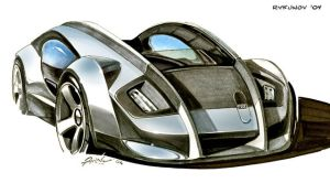 Concept car sketch 4 by Rykunov