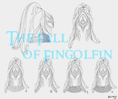 Fall of Fingolfin - Helm concepts by Breogan