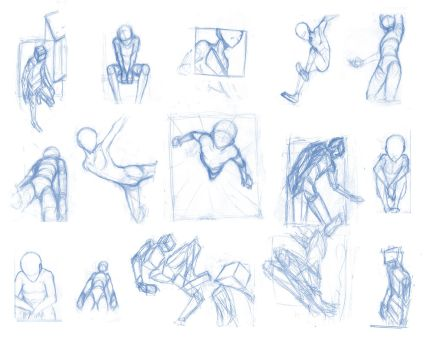 Random poses 27 (massive sheet) by BBstudies