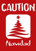 Caution Christmas by anyvalla