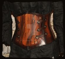 armor leather corset bark by Lagueuse