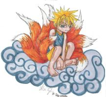 kyuubi nine tails by narcissusblossom