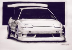 Nissan 200sx s13 Big Wing by erithdorPL