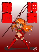Evangelion vs. Kill La Kill - Asuka in Senketsu by digikolobong