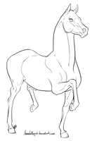 Racking Horse Lineart by AmandaRaquel