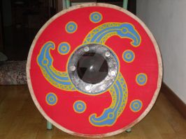 Triskell Lombard shield painting by enrico-ors-91