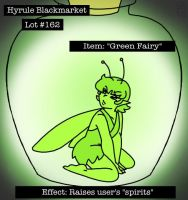 Green Fairy Bottle by MuseWhimsy