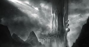 Greyscale Thumbnail 1 Sci-Fi by Shue13