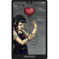 78 Tarot Project --Three of Swords-- by redrevvy