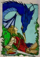 eragon and saphira...I think by Corsico