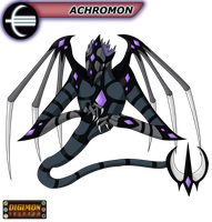 Digimon Inferno: Achromon by BlackHawkNova