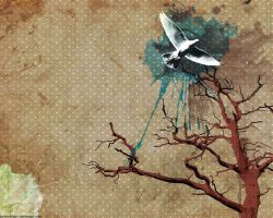 Wallpaper - Dove and Tree by punksafetypin