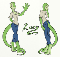 Lucy the Lizard Girl by Inkwell-Pony