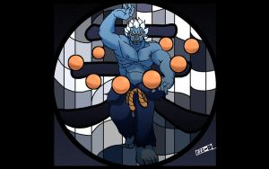 Oni with Stained glass style by yubigd