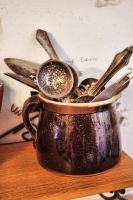 utensils in a pitcher by Moon-WillowStock