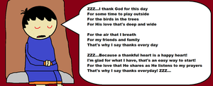 Nick Singing The Thankfulness Song by hershey990