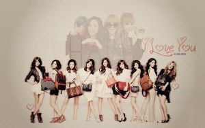 Wallpaper SNSD by amandakc