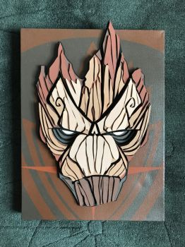 Groot 3D Canvas by paulo2070