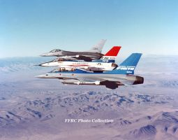 F-16/79 , F-16/101 and an F-16A in formation by fighterman35
