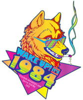 WAKE UP! it's 1984 Wolf by Crazdude