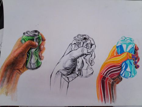 My hand and a can by CarDakku