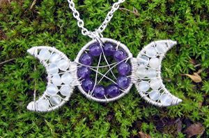 Moonstone and Amethyst by MoonLitCreations
