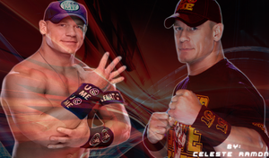 wwe John Cena: Blue and Red by celtakerthebest