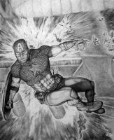 Captain America Free Fall by Meador