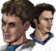 JD and Dr Cox speed paint by LiamShalloo