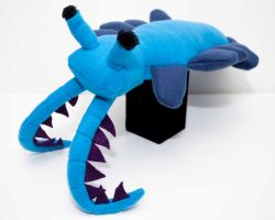 Anomalocaris Plush in blue by Paleogirl