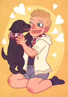 commission of a person and their dog by SirPaahdin