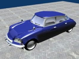 Citroen DS lowpoly by Berandas