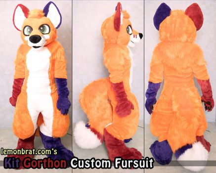 Kit Gorthon Custom Fursuit by lemonbrat