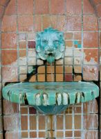 Lion Head Fountain 3 by krissybdesignsstock
