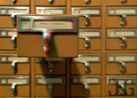 3D Card catalog _Anaglyph by homerjk85