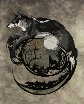 Tracery of wolf life by AlexandrFaolchu