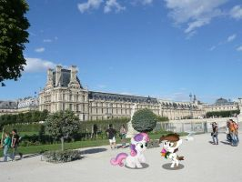 Pipsqueak proposes to Sweetie Belle at Paris by laopokia