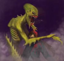 Spiney Alien Concept by hamilcar411