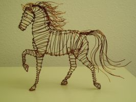 Copper wire Horse by Jaxnxay