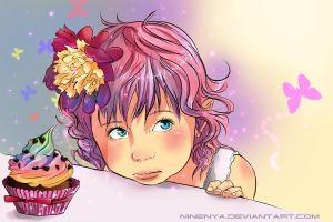 Little Claire's Cupcake Dream by Owlteria