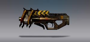 Commission Concept Art - Plasma Rifle by torvenius