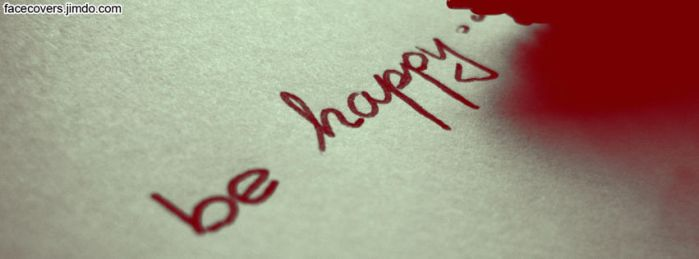 Be Happy - Facebook Cover by rockIT-RH