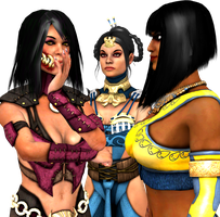 Mortal Kombat X - Kitana, Tanya and Mileena by CaliburWarrior