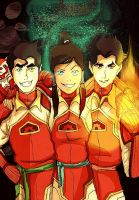 The Legend of Korra Fire Ferrets by StrawberryCake01