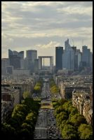 Paris - 2 - La defense view. by etr-wroclove