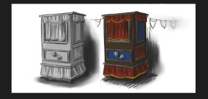 Project concept sketches_Venice Carnevale asset 1 by MoonLightRose17