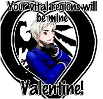 Prussia-san Valentine's Card by K-chanLP