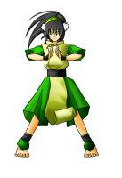 Avatar - BG-less Toph by hatenaki-yume